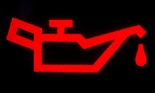 Car dashboard light signs on black background